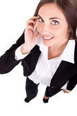 Business-frau mit einem telefon — Stockfoto