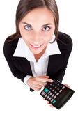 Mulher de negócios com calculadora — Foto Stock