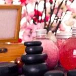 Spa treatment - massage stones — Stock Photo