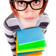 Teenager with glasses and book — Stock Photo #5561841