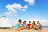 Camping on beach — Stock Photo
