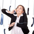 Clumsy secretary - Stock Photo