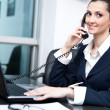 Businesswoman taking telephone call — Stock Photo