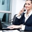 Businesswoman taking telephone call — Stock Photo