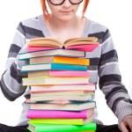 Student reading book — Stock Photo #5616073