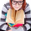 Teenager girl and book — Stock Photo #5616197