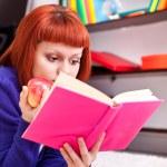 Teenager girl and book — Stock Photo
