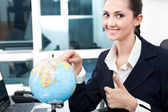 Business women found place for new job — Stock Photo