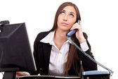 Businesswoman, boring phone call — Stock Photo