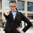 Royalty-Free Stock Photo: Angry business woman