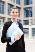 Successful smiling business woman — Foto de Stock