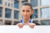 Young businesswoman need job — Stock Photo