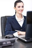 Smiling woman in chancellery — Stock Photo