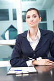 Young businesswoman as boss — Stock Photo