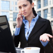 Irritation businesswoman — Stock Photo #5720653