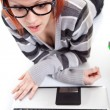 Girl with a laptop — Stock Photo #5722836