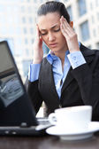 Businesswoman with a problem — Stock Photo