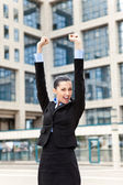 Happy success businessman — Stock Photo