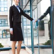 Businesswoman standing outdoors — Stock Photo