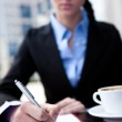 Businesswoman working on pause — Stock Photo #5782887