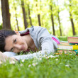 Beautiful girl relaxing in park — Stock Photo #5782978