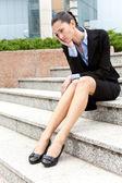 Jobless businesswoman — Stock Photo