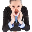 Angry boss yelling — Stock Photo