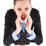 Angry boss yelling — Stock Photo