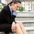 Businesswoman fired - Stock Photo