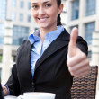 Royalty-Free Stock Photo: Successful businesswoman on coffee break