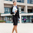Businesswoman on the walk — Stock Photo