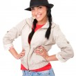Young girl with cowboy hat — Stock Photo
