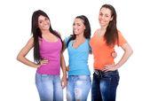 Tre unga flickor — Stockfoto