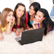 Girls with laptop — Stock Photo #5938813