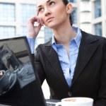 Business woman thinking — Stock Photo #5939637