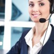 Support phone operator — Stock Photo