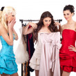 Girls shopping dress — Stock Photo