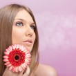 Beauty woman with flower — Stock Photo #6118689