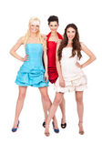 Group of fashion girls — Stockfoto