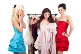 Girls shopping dress — Foto Stock
