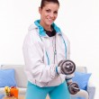 Woman exercising lifting — Stock Photo #6383660