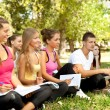 Group of students outdoor — Stock Photo #6530329