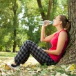 Relaxation girl in park — Stock Photo #6627893