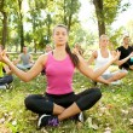 Meditation group — Stock Photo