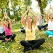 Outdoor yoga — Stock Photo #6628145