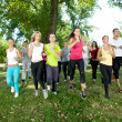 Jogging group - Stockfoto