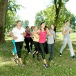 Jogging in park — Stock Photo