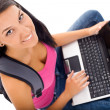 Student and laptop — Stock Photo #6628723