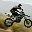 Motocross, panning — Stock Photo