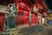 Buddha Tooth Relic Temple Door Guardians — Stock Photo